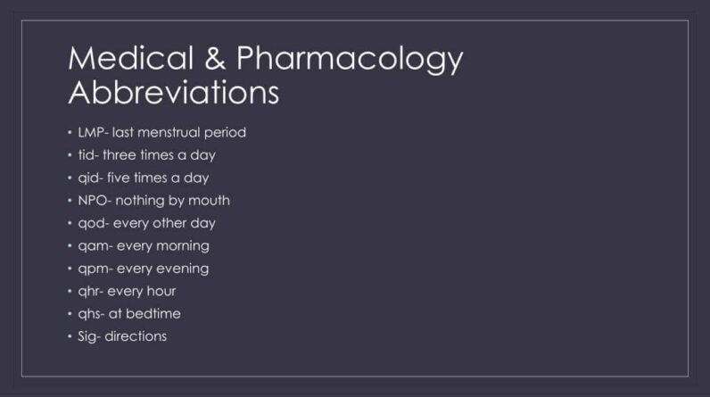 QHS Medical Abbreviation