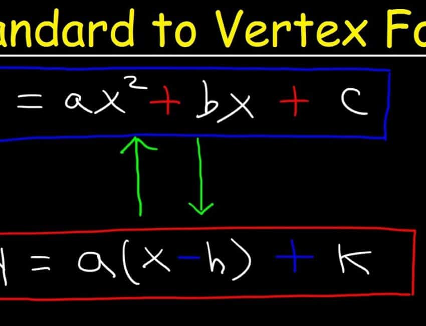 Standard Form To Vertex Form