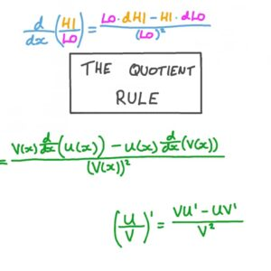 quotient rule and product rule formula